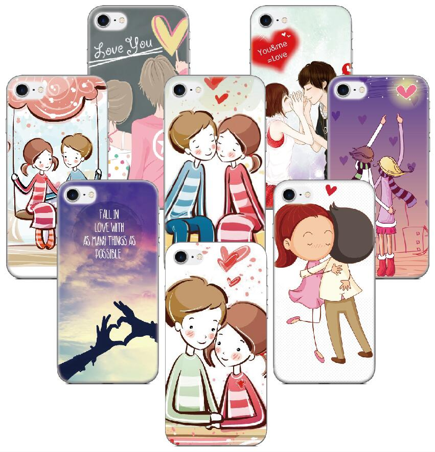 I Love You Lover Heart Case For Samsung Galaxy S9 Plus E5 E7 i9082 S5 S6 S7 Edge Note 3 4 5 Phone Cover Coque Capa Fundas Bumper
