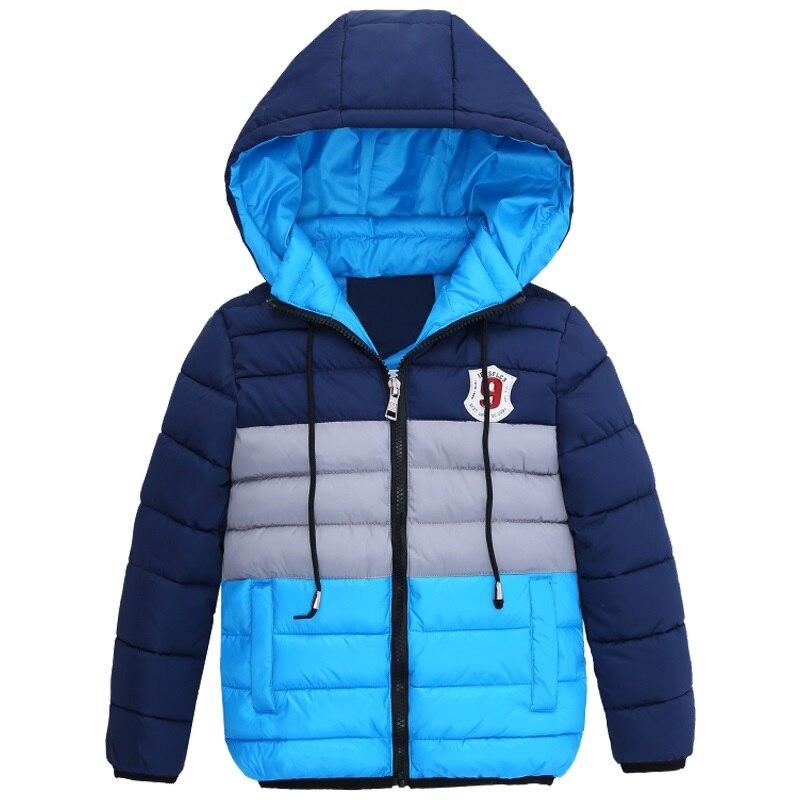 Детское пальто Новинка 2018 г. на весну и зиму Куртка для мальчиков для Обувь для мальчиков детей Костюмы верхняя одежда с капюшоном одежда для маленьких мальчиков От 5 до 10 лет