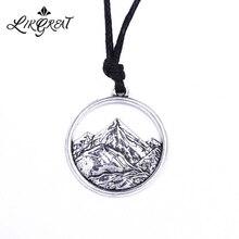 """LIKGREAT, рельефный кулон """"Гора"""", ожерелье, золото/серебро, минималистичное ожерелье с Горным верхом, Походное, для путешествий, ювелирное изделие для альпинизма"""