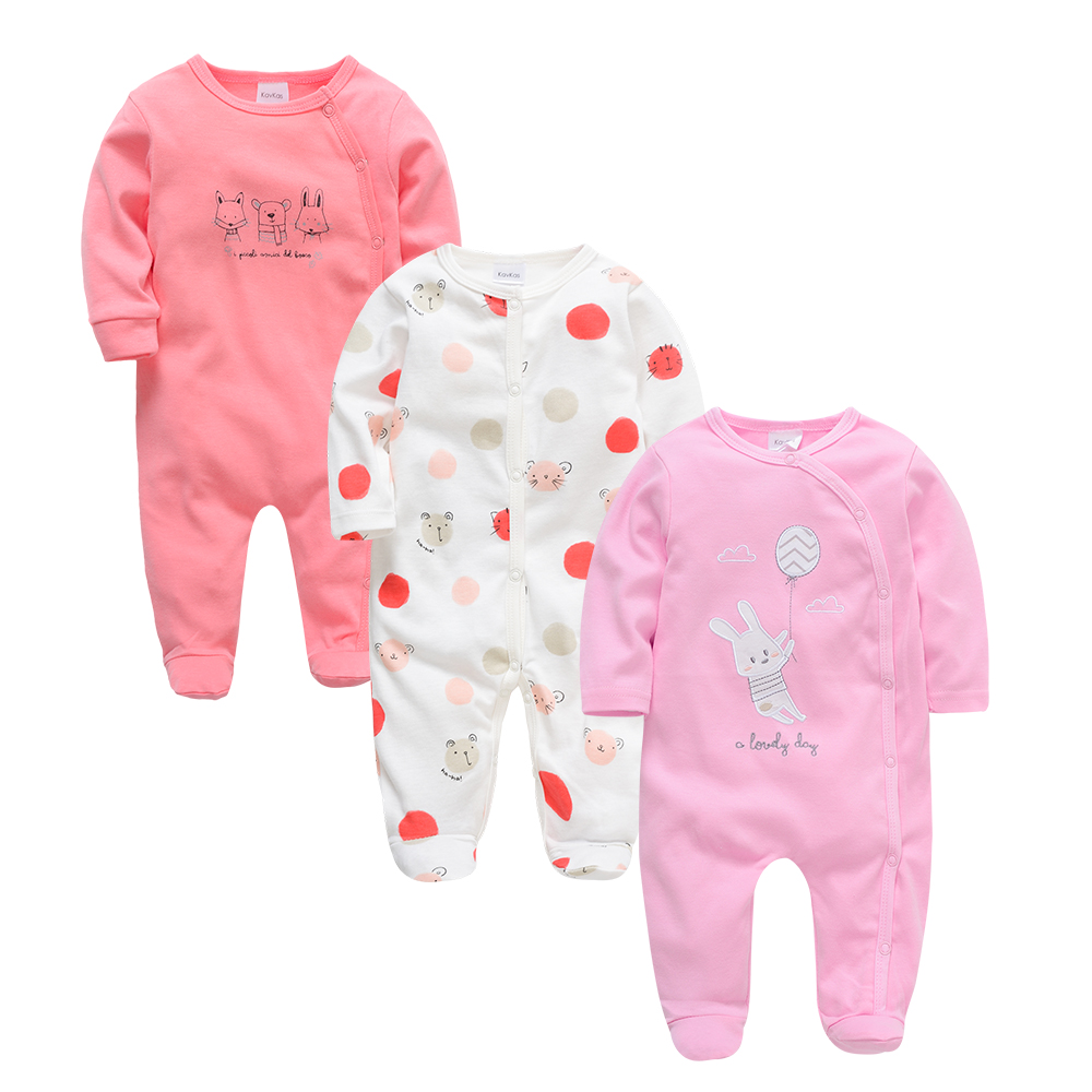 Kavkas Newborn Baby Girl Clothes Roupa De Bebes Full Sleeve Recien Nacidoneonato Autumn Winter Baby Footies For Boy