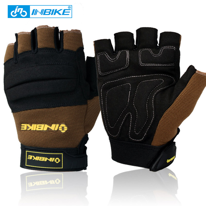 INBIKE Tactical Protect Wrist Fitness Gloves Half Finger Summar Breathable Gloves Training Driving Weightlifting Sports Gloves