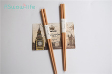 2 Pcs Long Chopsticks Wood Easy To Pick Up Light And Practical Natural For Household Products