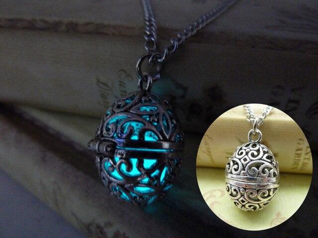 Glowing orb necklace glow locket steampunk fairy jewelry antiqued glowing orb necklace glow locket steampunk fairy jewelry antiqued silver locket necklace zj045 aloadofball Gallery