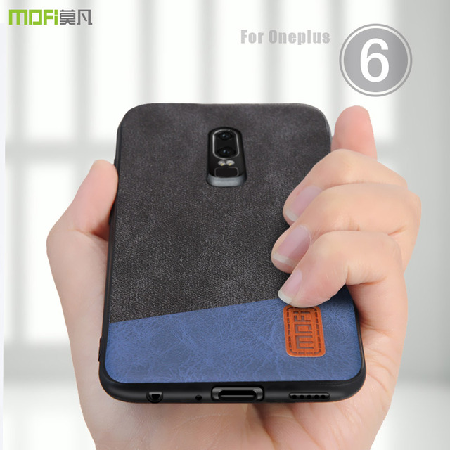 innovative design 66255 22e2d US $8.69 13% OFF|oneplus 6 Case Cover MOFI One Plus 6 Back Leather Cover  Case for 1+6 Soft silicone edge Full Cover Case for OP6 Case 6.28''-in  Fitted ...