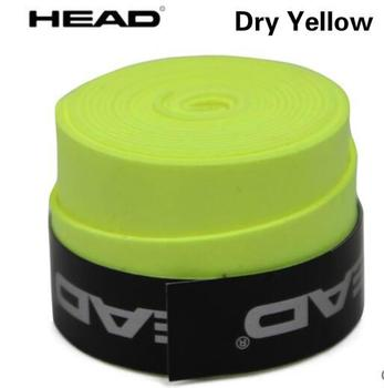 10pcs/lot Head Tennis Racket PU Overgrip Anti-skid Sweat Absorbed Soft Wrap Taps Tenis Racquet Damper Dry/ Vibration Tacky grips - Dry yellow