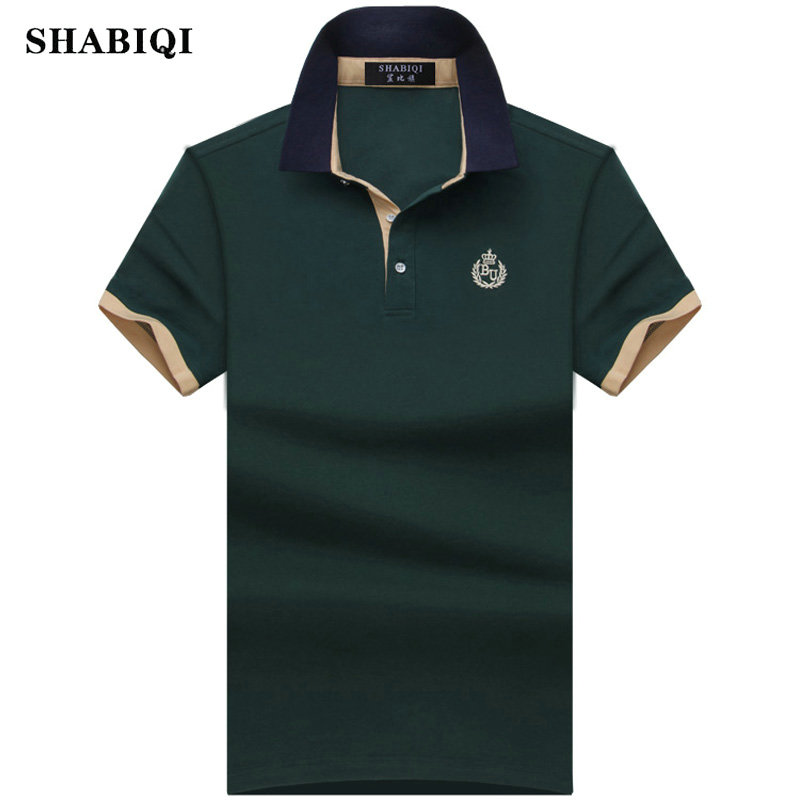 2019 brand Summer style Men's Regular Slim Lapel Embroidered   Polo   Shirts cotton men casual tops tees man poloshirts 7XL 8XL 9XL