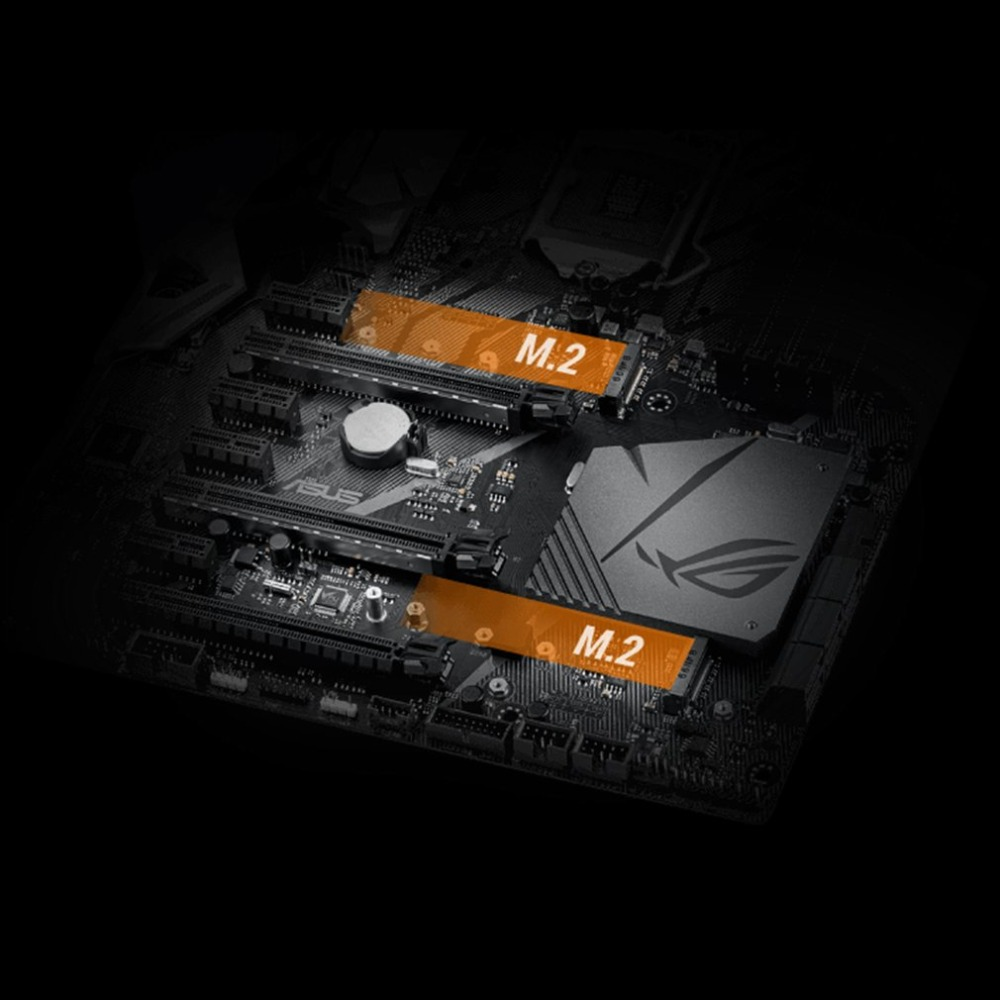 US $549 0 |ASUS ROG STRIX Z370 F GAMING Z370 ATX Motherboard Support DDR4  4000MHz Dual M 2 SATA 6Gbps LGA1151 Socket Mainboard-in Motherboards from