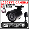 Big Sale 1 4cmos 1200TVL Small Outdoor Waterproof IP66 CCTV Security Color Mini HD Camera 24led