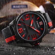 Для мужчин s часы лучший бренд класса люкс NAVIFORCE для мужчин кварцевые часы 3D уход за кожей лица резиновая водонепроница…