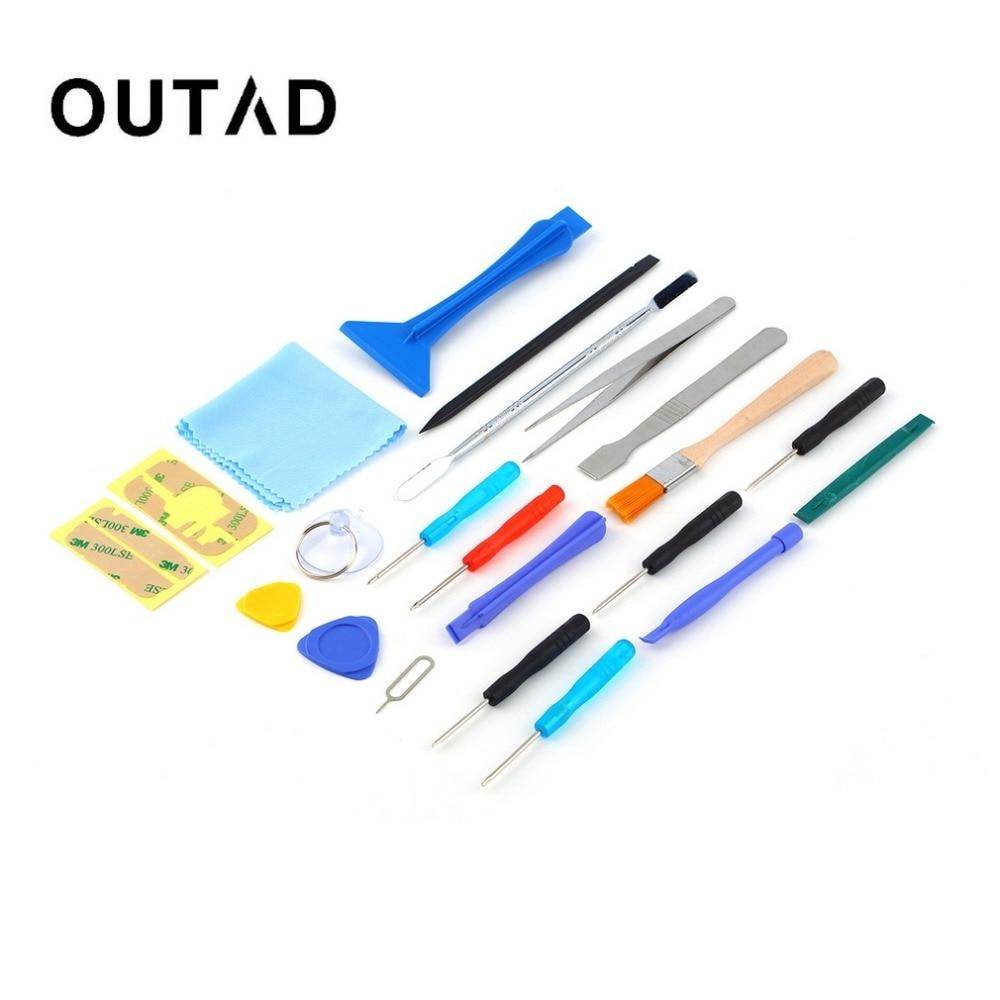 22 in 1 Open Pry screen tool kit Reparatie schroevendraaiers Sucker reparatie handgereedschap set Kits voor mobiele telefoon Tablet hot Dropshipping