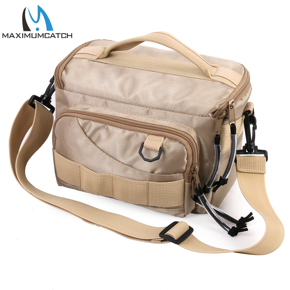 Maximumcatch Fishing Bag Fishing Tackle Sling Bag Shoulder With 3 Pieces Fishing Box