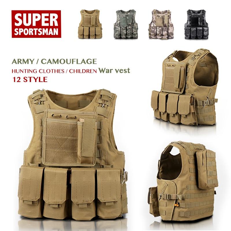 Enfants garçons Camouflage tactique chasse gilets hommes Airsoft Sniper équipement enfants équipement militaire fille Jungle vêtements armée uniforme