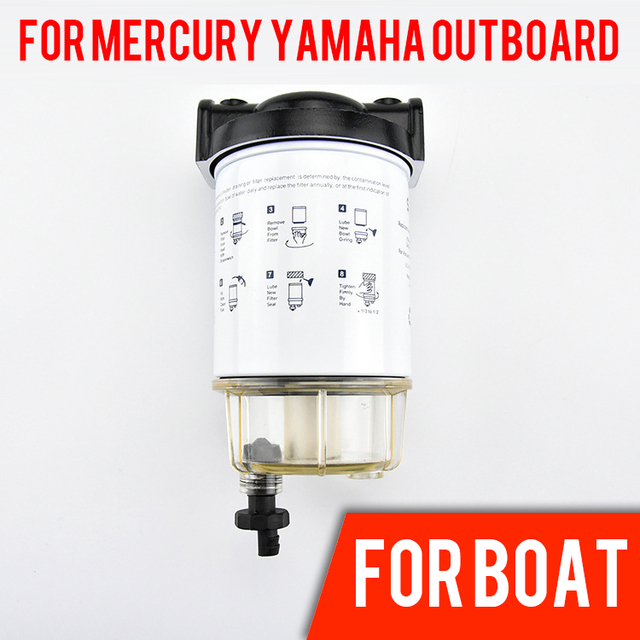 fuel water separator boat fuel filter marine engine fuel water separator  for mercury yamaha outboard 10 micron