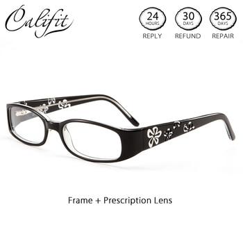 f71685463c CALIFIT grado ovalado astigmatismo prescripción gafas mujeres flor marca  progresiva fotocrómico graduado gafas nueva óptica