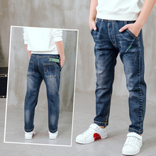 Hot sale Kids fashion jeans, spring and autumn boy jeans. Childrens slim  age 3 4 5 6 7 8 9 10 11 12 13 14 year old