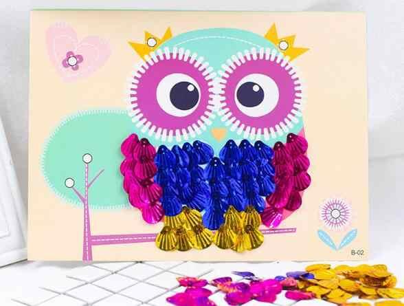 Happyxuan 3 шт./лот DIY Shell Живопись Дети ручной ремесел Материал украшения дома детей Творческий 3D наклейки игрушки серии B