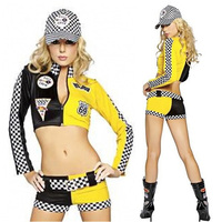 Cheerleader dancer clothes Cars Racing girl clothes Sexy car models wear Cosplay costume