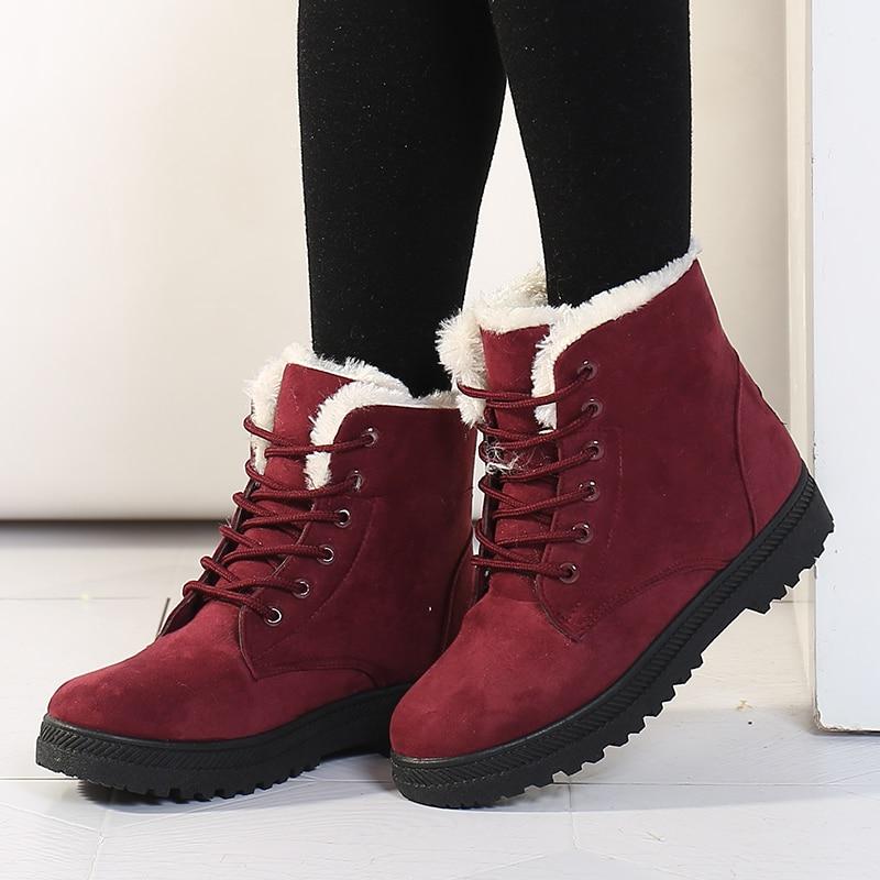 Women's High Heels Plush Winter Boots 3