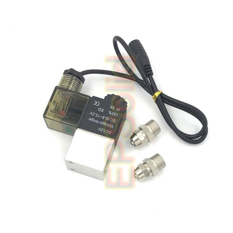 Магнитный Соленоидный клапан регулятор низкой температуры CO2 аквариум Электрический магнитный клапан EPS-2V-06AF