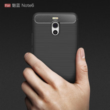 Meizu M6 Note Case Silicon for M5 Cover Soft Carbon Fiber Brushed Hoesje Funda Movil Coque Etui