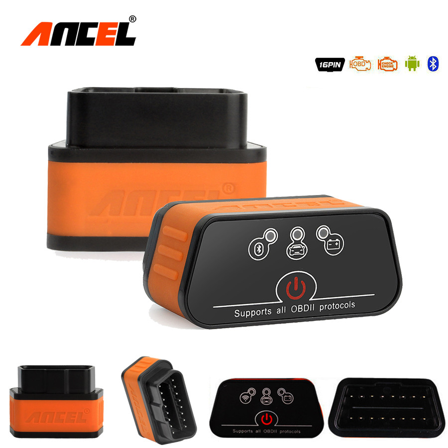 ELM327 Obd2 Scanner Ancel iCar2 icar 2 Bluetooth Car Diagnostic Code Reader Real V1.5 For Android Phone Torque Diagnostic Tool launch golo easydiag plus bluetooth diagnostic tool obd2 professional code reader enhanced code reader