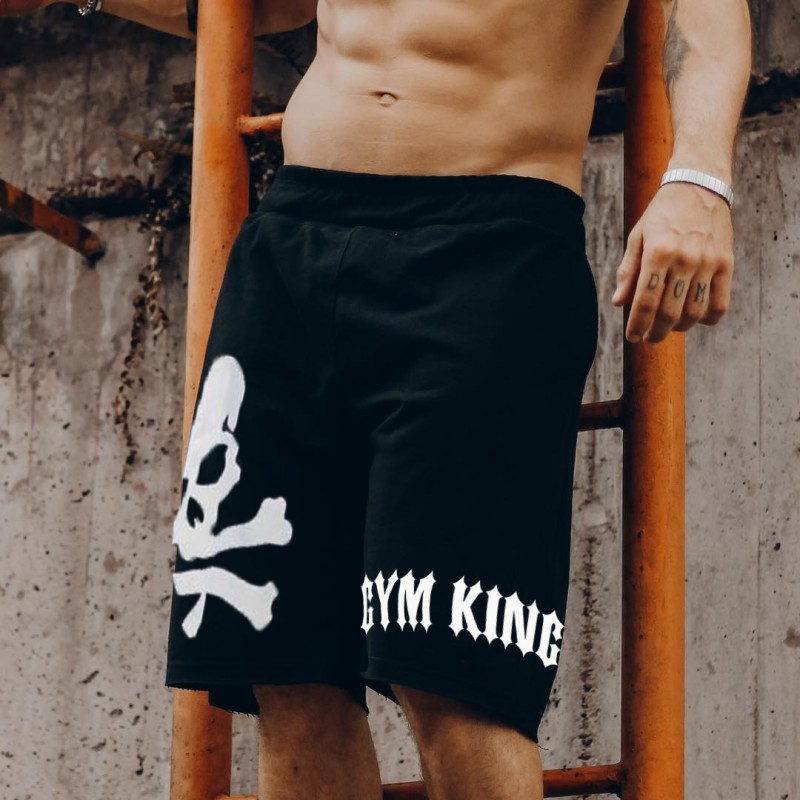 Shorts Mens Bermuda 2018 Summer Skull Men Beach Hot Cargo Simple Letter Solid Boardshorts Male Brand MenS Short Casual Fitness