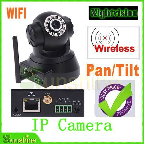 Free Shipping Wireless WIFI IP Camera IR LED 2-Way Audio Nightvision Night vision Warranty One Year