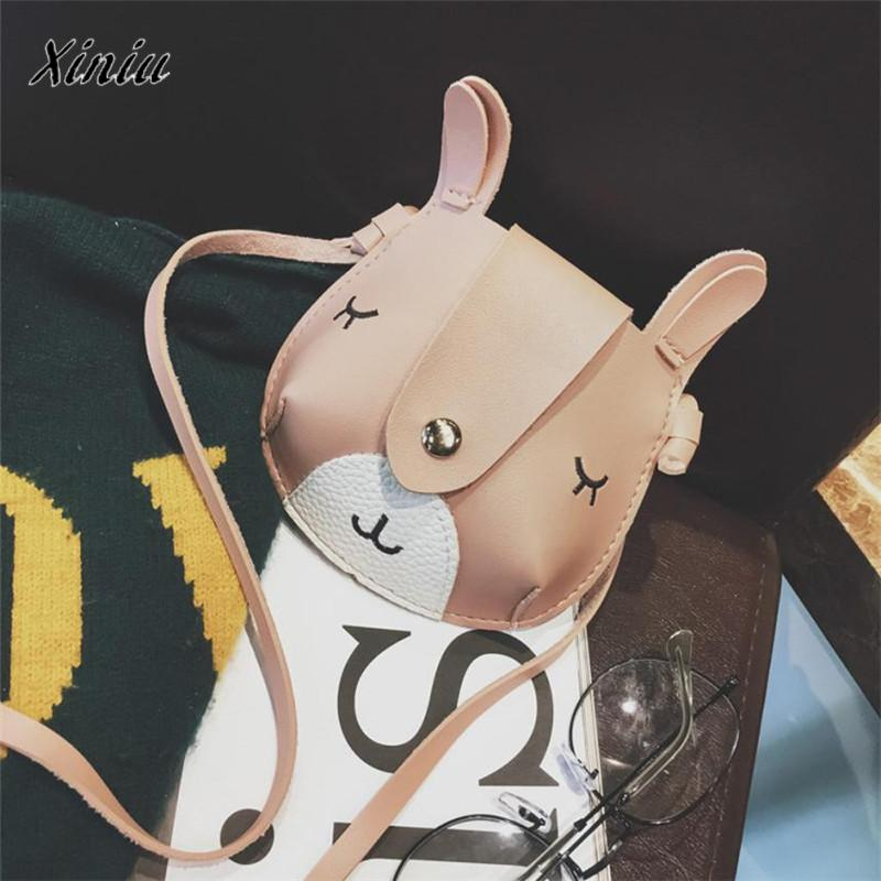 xiniu Children Cute Dog Cartoon change purse wallets for children Fashion Shoulder Bag Mini Crossbody Bag small purse