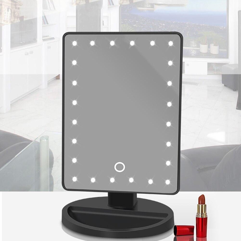 Зеркало для макияжа 24 лампочки зеркало с подсветкой косметическое зеркало косметическое светодиодный USB питание зеркало для девушек