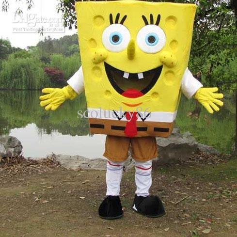 Adult Size Just Funny Cosplay of Sponge Bob Squarepants Cartoon Mascots Costumes For Sale