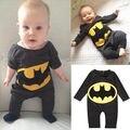 0-2Y Bebé Recién Nacido Ropa de la Historieta de Batman de Manga Larga Romper Playsuit Uno Junta Las Piezas Trajes