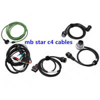 MB Star SD Connect C4 Cables 5pcs Together Without Multiplexer Free Shipping For MB Star C4