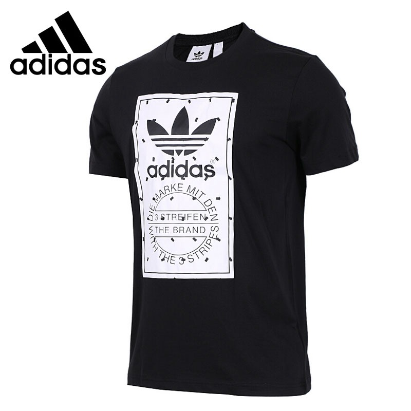 Original New Arrival  Adidas Originals LABEL TEE Men's T-shirts short sleeve Sportswear