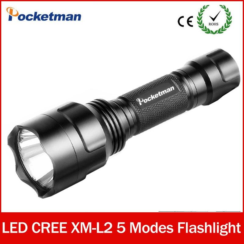 Super bright <font><b>LED</b></font> flashlight C8 xm-l2 linternas 5 MODES Waterproof lampe torche tactique <font><b>zaklamp</b></font> Free Shipping zk50