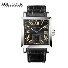 2017 AGELCOER Brand Geneva watch Men Wristwatch Automatic Mechanical Watches water resistant Date Calendar with watch