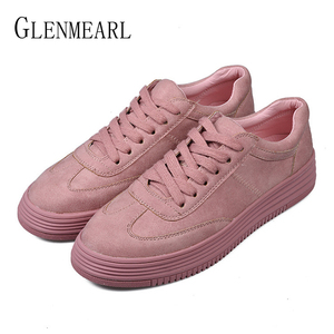 جلد طبيعي المرأة الشقق حذاء أبيض منصة الربيع الخريف حذاء كاجوال امرأة الدانتيل يصل زائد حجم الإناث أحذية رياضية القيادة الأحذية