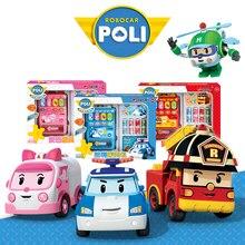 Robocar Poli Bebidas de juguete para niños Máquinas expendedoras automáticas Bienes Pretend Play House Toys Niños Niñas Muebles para casa de muñecas
