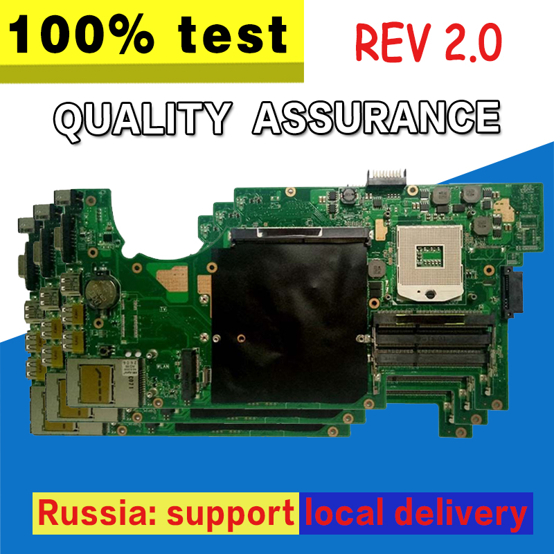 цена на G73JH Motherboard USB2.0 REV:2.0 For ASUS G73JH G73J G73 Laptop motherboard G73JH Mainboard G73JH Motherboard test 100% OK