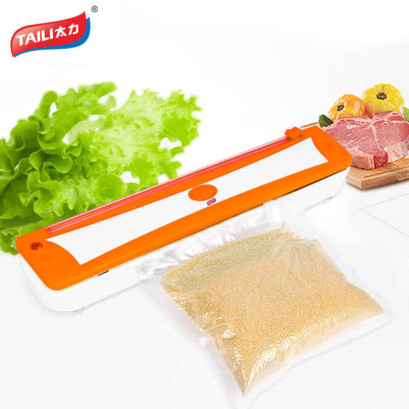 TAILI 220V Vacuum Food Sealer Machine Film Container Food Sealer Saver Include Vacuum Bag For Home Kitchen More Fresh/Healthy