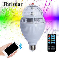 Thrisdar E27 Magic Ball Bluetooth LED Stage Lamp Disco DJ Party Stage Light Bluetooth Speaker Music