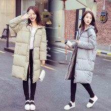 Хлопок Пальто Женщин Новый Зимний Корейских Студентов Плюс Размер Толщиной Вниз и Парки Куртки Теплые Пиджаки Женский Капюшоном Вниз Пальто Femininas