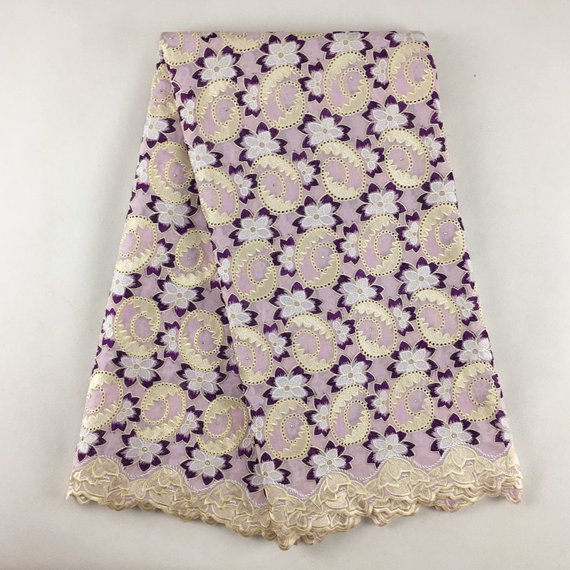 Swiss voile lace in switzerland high quality swiss lace in Lilac Purple 897 5Yards 100 Cotton