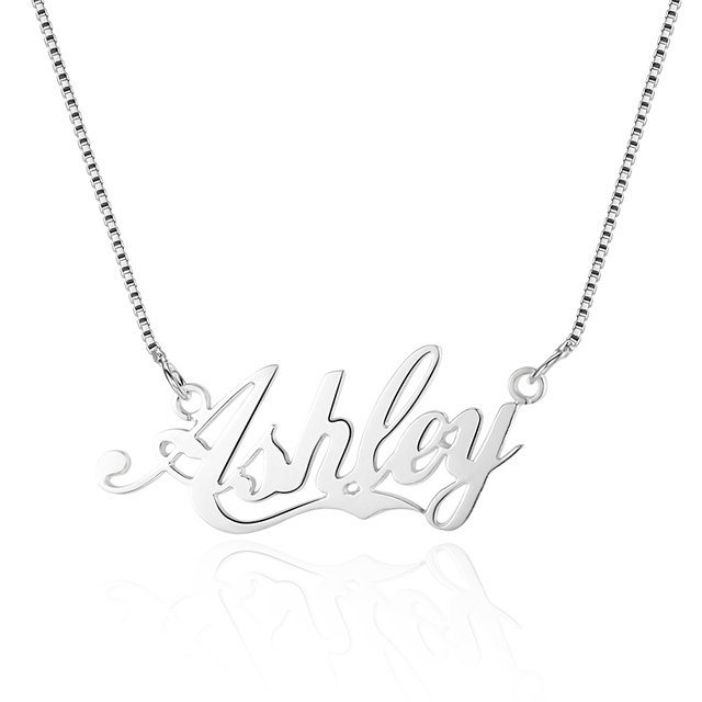 925 sterling silver personalized name necklace custom made hebrew 925 sterling silver personalized name necklace custom made hebrew arabic name trendy handmade necklace pendants aloadofball Images