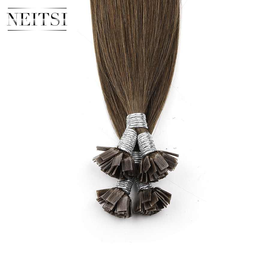 "Neitsi Machine Gemaakt Remy Flat Tip Human Hair Extensions 0.9 g/s 22 ""1.0 g/s 26"" Straight Capsules Keratine pre Gebonden Haar"