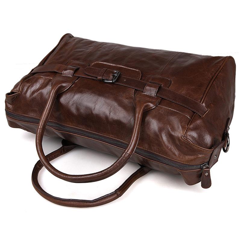 J.M.D Genuine Vintage Leather Men's Business Briefcase Male Fashion Chocolate Color Handbag Laptop Bag Messenger Bag 7079Q