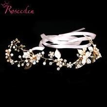 Свадебные украшения для волос ручной работы с жемчугом цветочный
