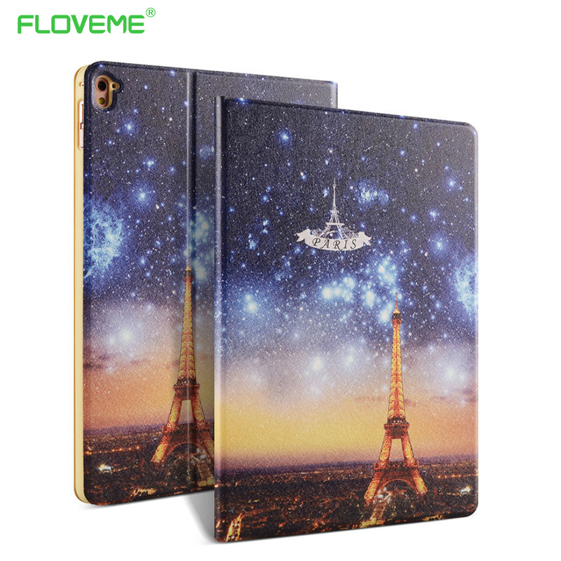 Fashion Artistic Painting Cartoon Leather Case For iPad Pro Mini 9.7 For iPad Pro Stand Holder Smart Sleep/Wake Tablets Cover