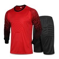 2016 Men Soccer Goalkeeper Uniform Foam Padded Jersey Shirt Pants Adult Long Sleeve Sport Football Training