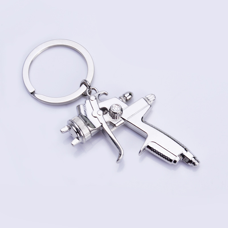 Metal Creative Water Gun Keychain Creative New Style Water Gun Key Chain Small Pendant