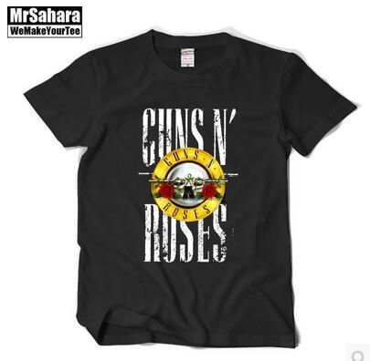 The new Rock and roll Sweethearts outfit With short sleeves men T-shirt GUNS N 'ROSES guns T-shirt loose Big yards